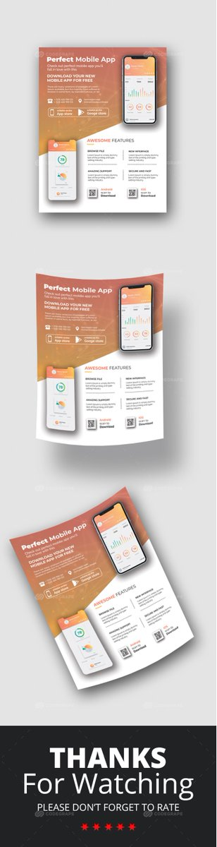 Mobile App Flyer  #Prints #Flyers
