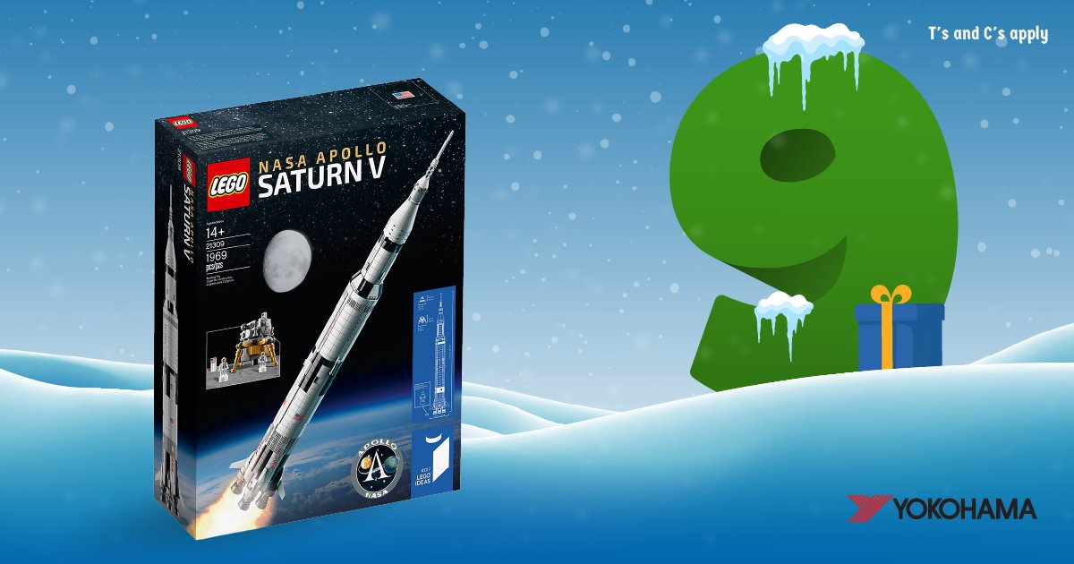 ⚽ Win A #Lego Saturn5 Rocket & A Chelsea Shirt In #Day9 Of #Kwikmas ⚽ RT&F + comment your favourite football player for a chance to #win this amazing prize courtesy of @Yokohama! #adventcalendar #competition #giveaway #xmas #christmas #yokohama #kwikfit #mondaymotivation