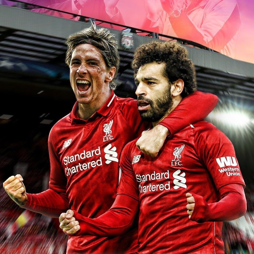 Fernando Torres vs Mohamed Salah for the Reds:   142 games, 81 goals  124 games, 81 goals <br>http://pic.twitter.com/Ko8AXgmTlU