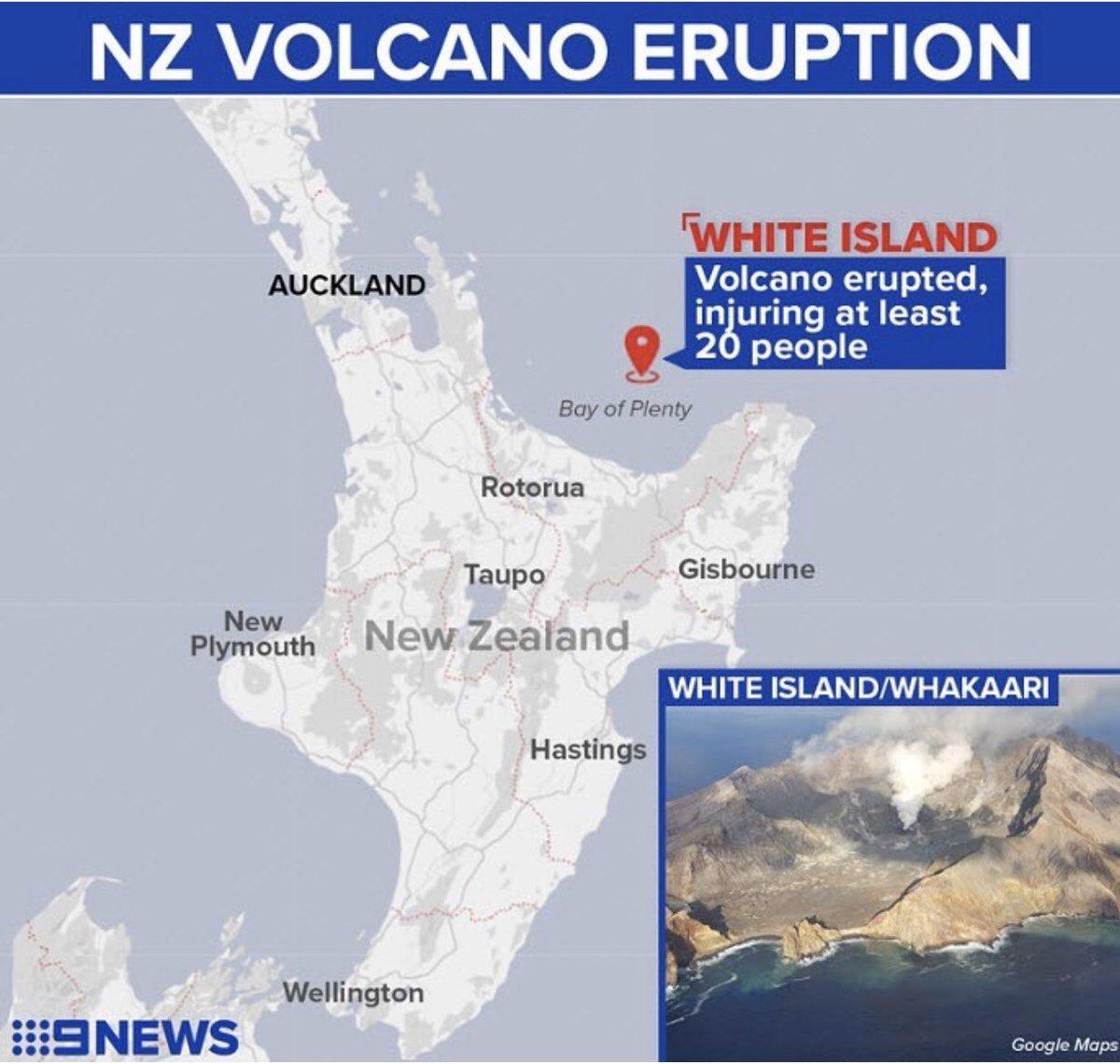 So sad #NewZealand #WhiteIsland #eruption