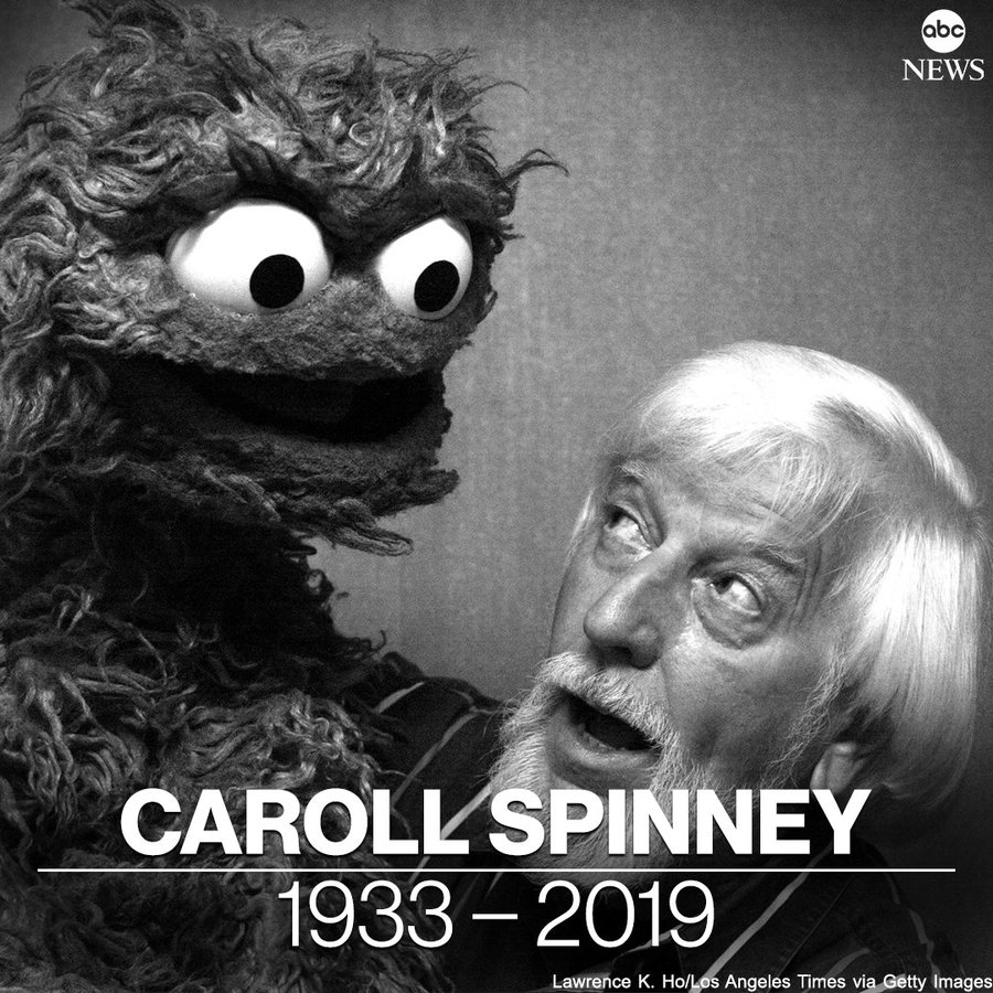 Caroll Spinney, the longtime puppeteer behind beloved Sesame Street characters Big Bird and Oscar the Grouch, has died at age 85. abcn.ws/2OZJpwW