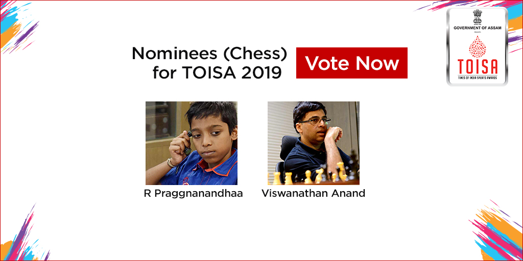 #MoreSweatMoreGlory #TOISA2019Here's the list of Chess Nominees for TOISA 2019Vote for your favorite player. Click https://timesofindia.indiatimes.com/toisa/nominations.cms… to Vote Now