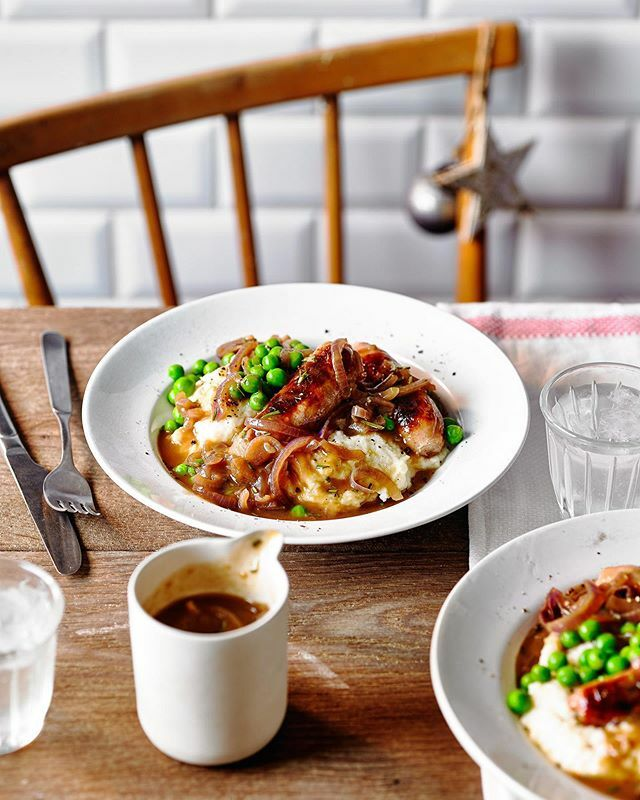 Sausage, mash and onion gravy for this months @tescofood mag family dinners. Food @emmajanefrost Props @jenny_igg AD @patmorejulie https://ift.tt/36gXKLh
