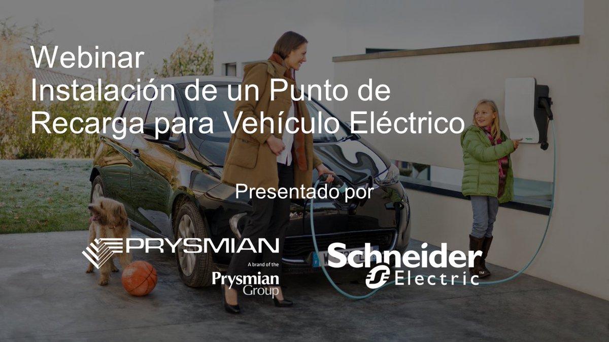 Nuestro patrocinador Schneider Electric junto con Prysmian nos ofrecen la oportunidad de asistir a una jornada para conocer las claves de cómo instalar un punto de recarga para un vehículo eléctrico.   ¡Inscríbete y reserva tu plaza ahora! http://bit.ly/2RlRqOfpic.twitter.com/MUxUTIXwt5