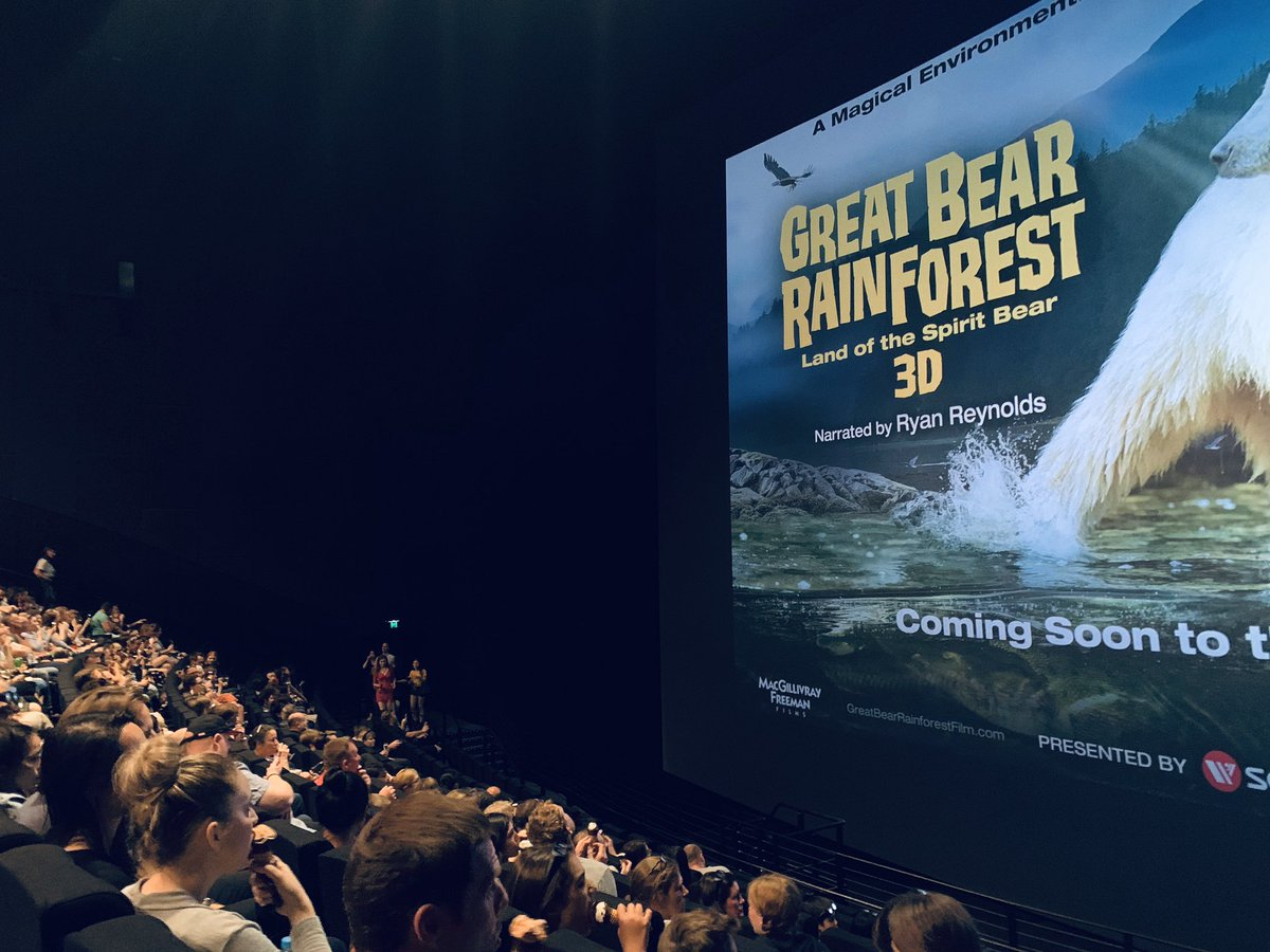 Had an amazing time at @IMAX_Melbourne watching #greatbearrainforest - out in January<br>http://pic.twitter.com/qwpizFxCTV