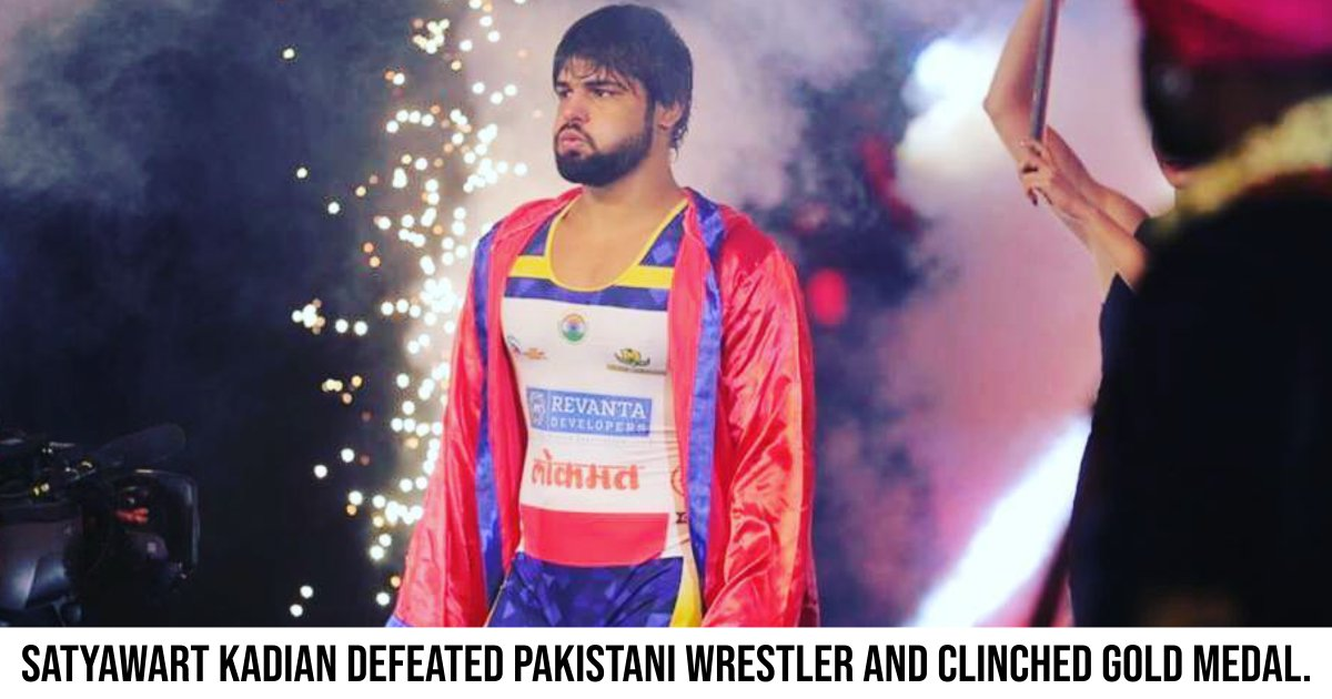 #SatyawartKadian lived up to the expectations and #won the #wrestling #goldmedal, as he smashed his Pakistani opponent #TabiyarKhan at the #13thSouthAsianGames. #SumitMalik, #GurshanpreetKaur, and #SaritaMor also bagged gold medals.https://sportsmatik.com/sports-stars/satyawart-kadian/MjEwNQ--…