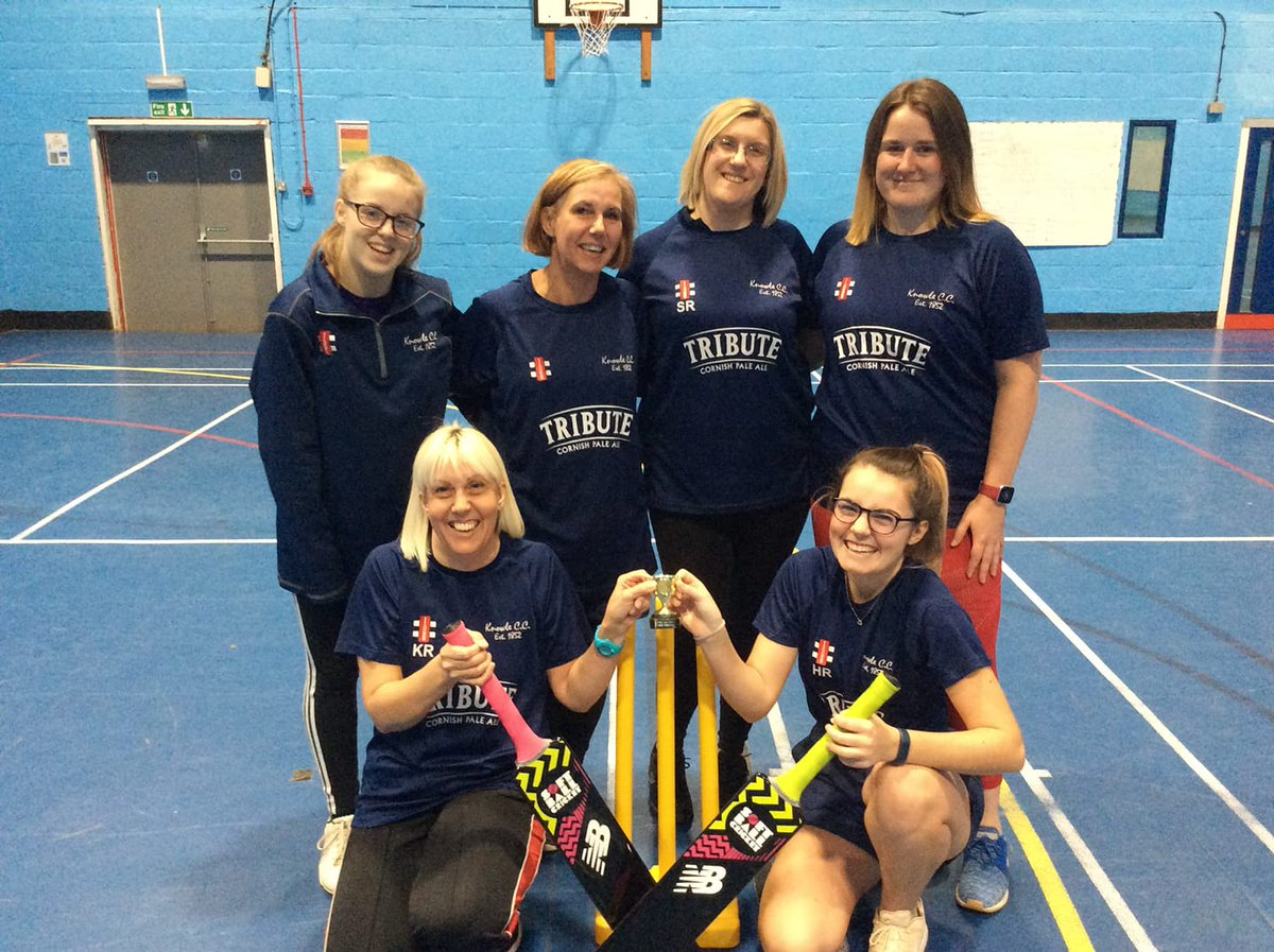 test Twitter Media - Congratulations to @KnowleCC who won the 'Wilson' division of the North indoor league. 🏆  Thanks to all the clubs, players and volunteers who took part. 🙏 Especially to Honey for umpiring.  #ThisGirlCan #Indoor #Cricket #SoftBall #WomeninSport #ASportForAll #wearesomerset🏏💪 https://t.co/hzIZM4ImIO