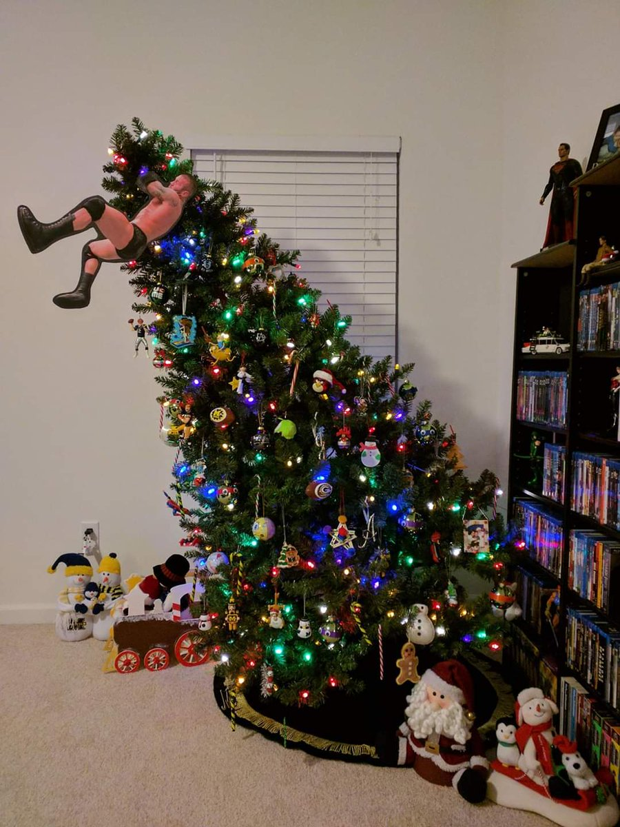 Can not remember where I found this but what a Christmas tree 😂@RandyOrton #RKOouttanowhere