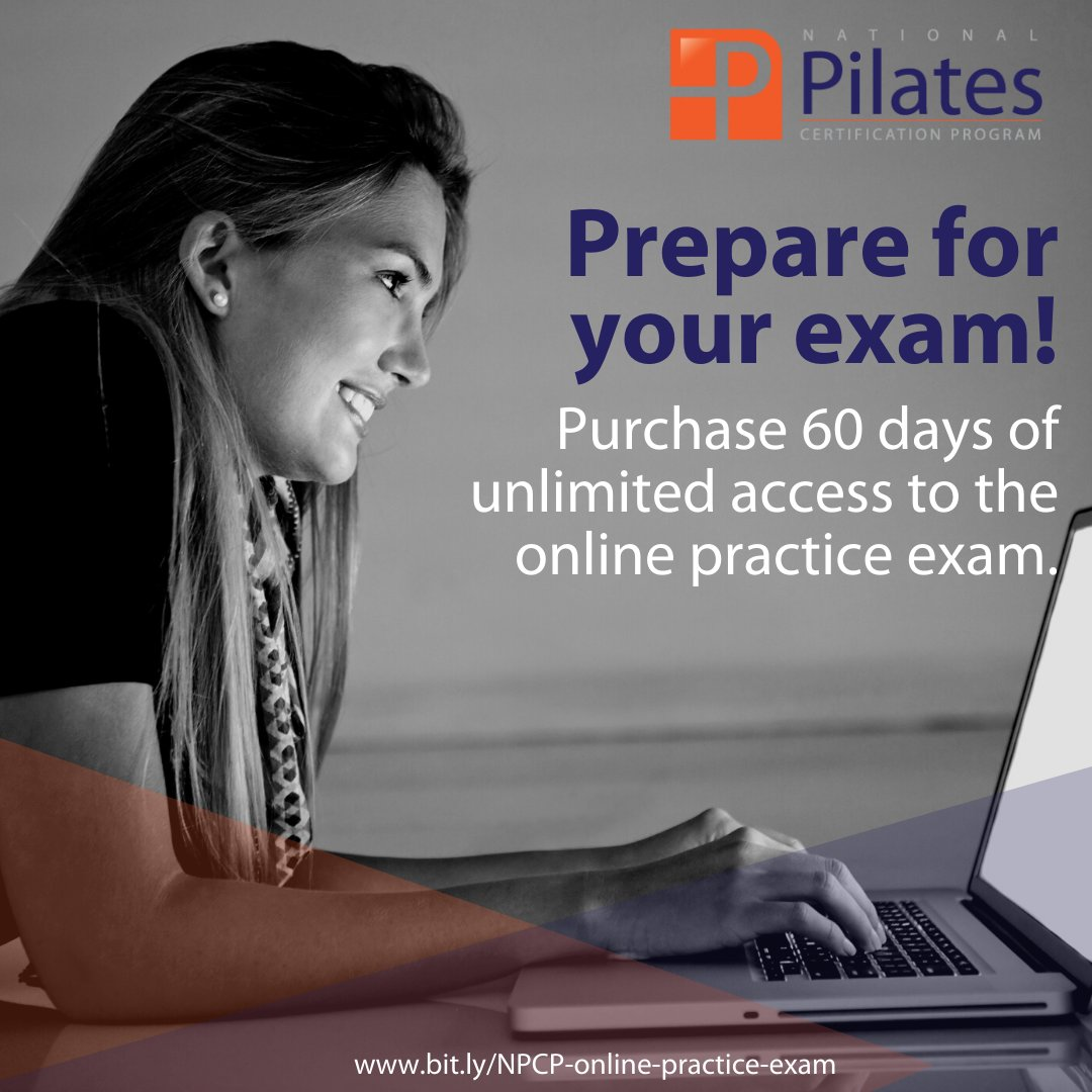 Preparing for your exam? You can practice online! Learn more: http://www.bit.ly/NPCP-online-practice-exam …  #NCPT #nationalpilatescertificationprogram #pilatescertifiedteacher #pilatesteacher #pilatesmethodalliance pic.twitter.com/Dn0gPI7Z3G