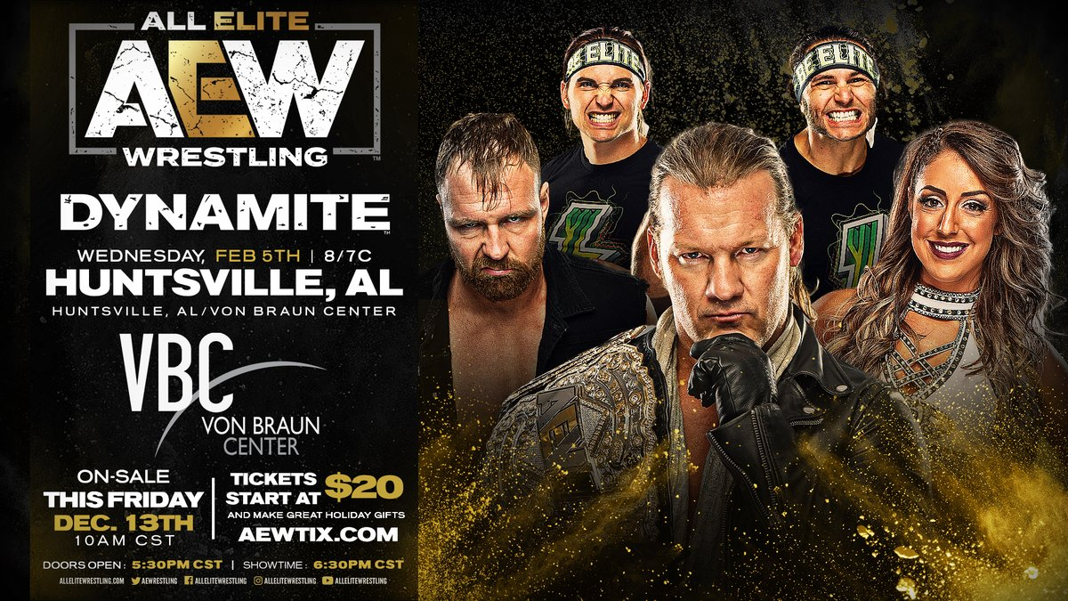 AEW Announces Dynamite Episodes For Austin And Huntsville