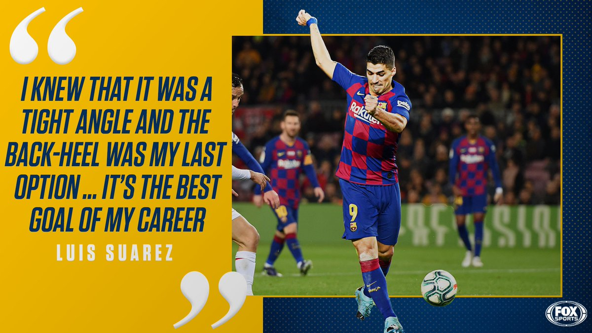 Yes, were still thinking about that Suarez goal. 🔥