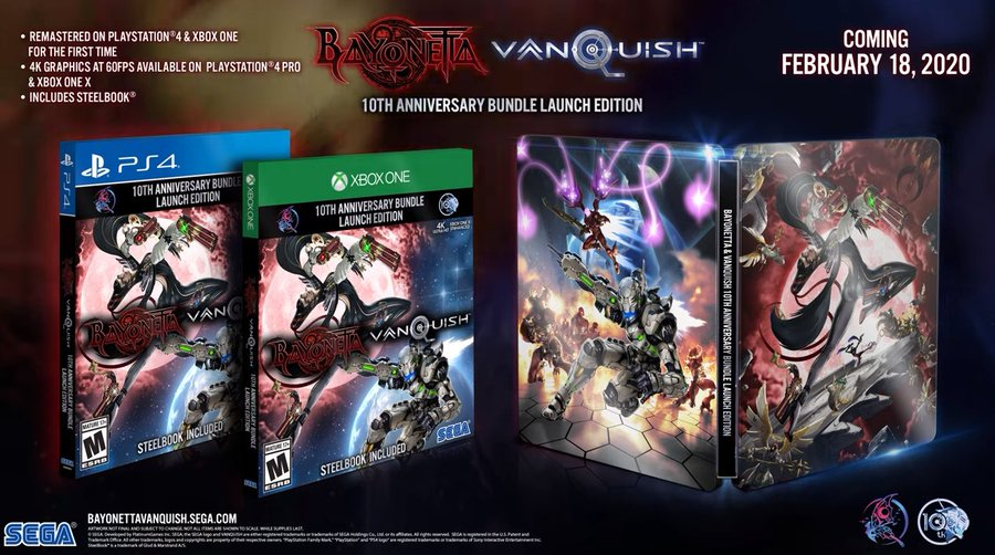February 2020 Games With Gold.Bayonetta Vanquish 10th Anniversary Bundle Releasing Feb