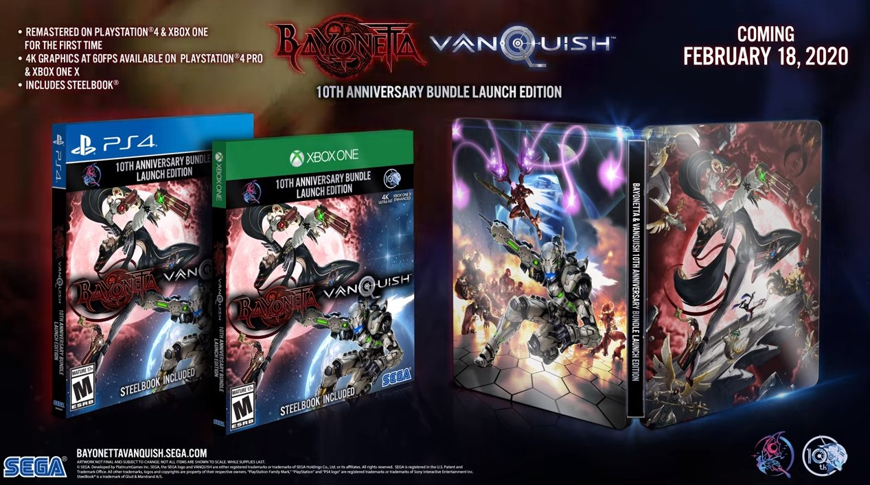 Xbox One X Games 2020.Bayonetta Vanquish 10th Anniversary Bundle Announced For