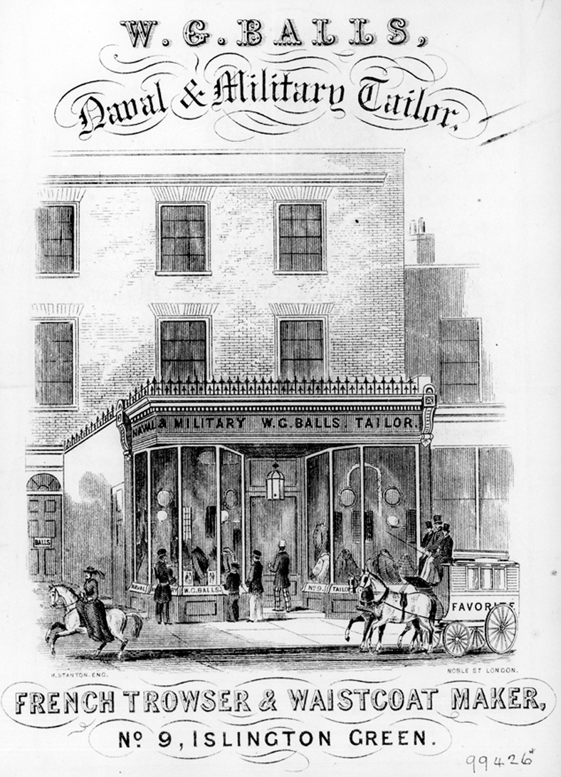 W Balls tailor at No 9 Islington Green 1854 #AdventCalendar #Libraries #Heritage
