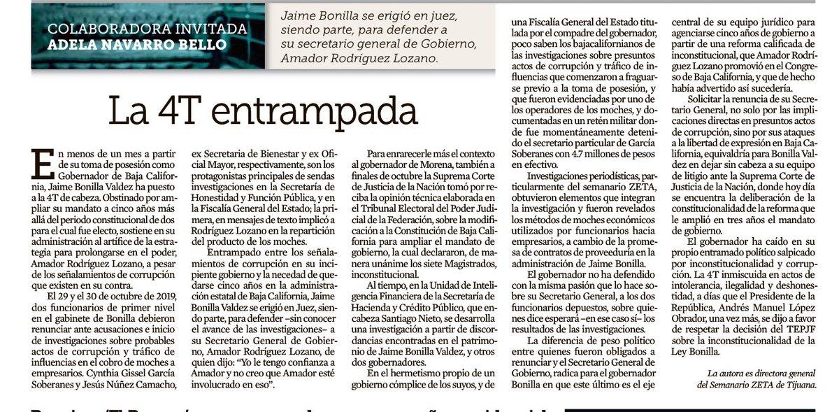 En menos de un mes como gobernador, Jaime Bonilla ha puesto de cabeza a la #4T y en apuros al presidente @lopezobrador_  Artículo de @adelanavarro