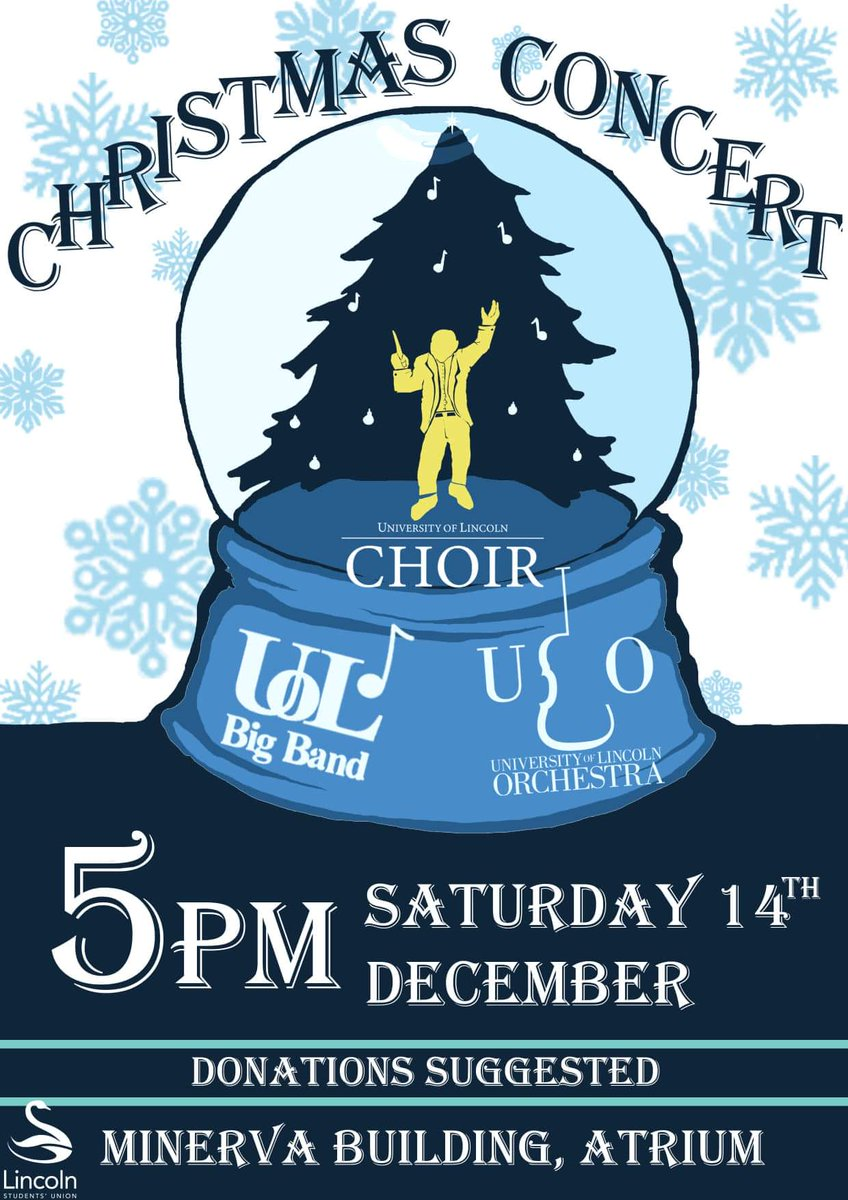 Not long until the Christmas concert  Five days to be exact  see you all on Saturday @ 5pm   Featuring the Orchestra, Choir, and of course us, the UoL Big Band! <br>http://pic.twitter.com/a5SqqmSxMu