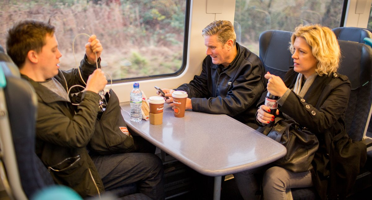 It sounds like the set up for something but @ParkerCiccone @OwenJones84 and @Keir_Starmer enter a train ... and get the goddamn vote out! #GE19 #Labour