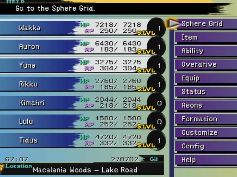 I don't think I've ever seen as huge a disparity in menu aesthetics between rereleases/remasters as I have with Final Fantasy X