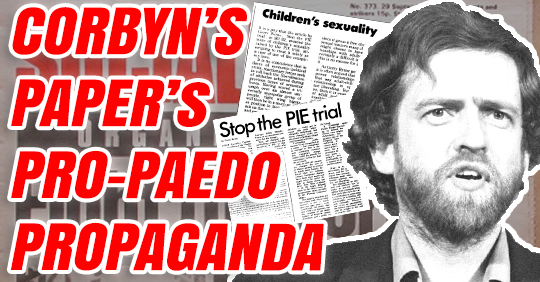 @GuidoFawkes NEW: Jeremy Corbyns campaign newspaper published pro-paedophile articles in the 1980s. order-order.com/2019/12/09/cor…