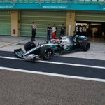 👀 F1 car + 18-inch tyres at Yas Marina today   #F1 @pirellisport @MercedesAMGF1