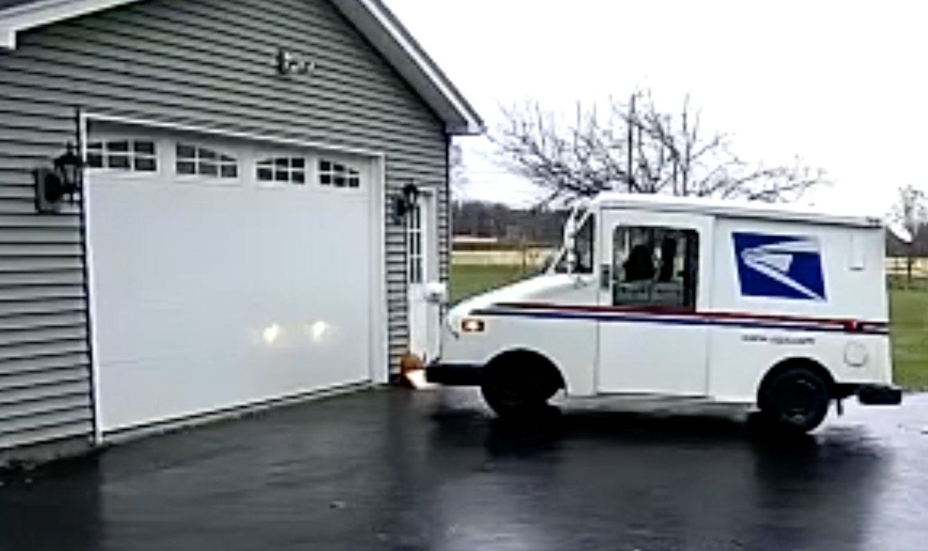 Package tossed like a frisbee in Wayne County from USPS truck (video)