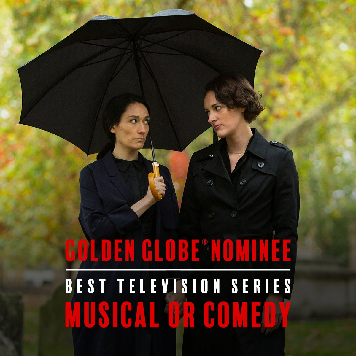 We're hosting one hell of a family dinner. Congratulations to the #Fleabag cast and crew for their #GoldenGlobes nomination for Best TV Series - Musical or Comedy!