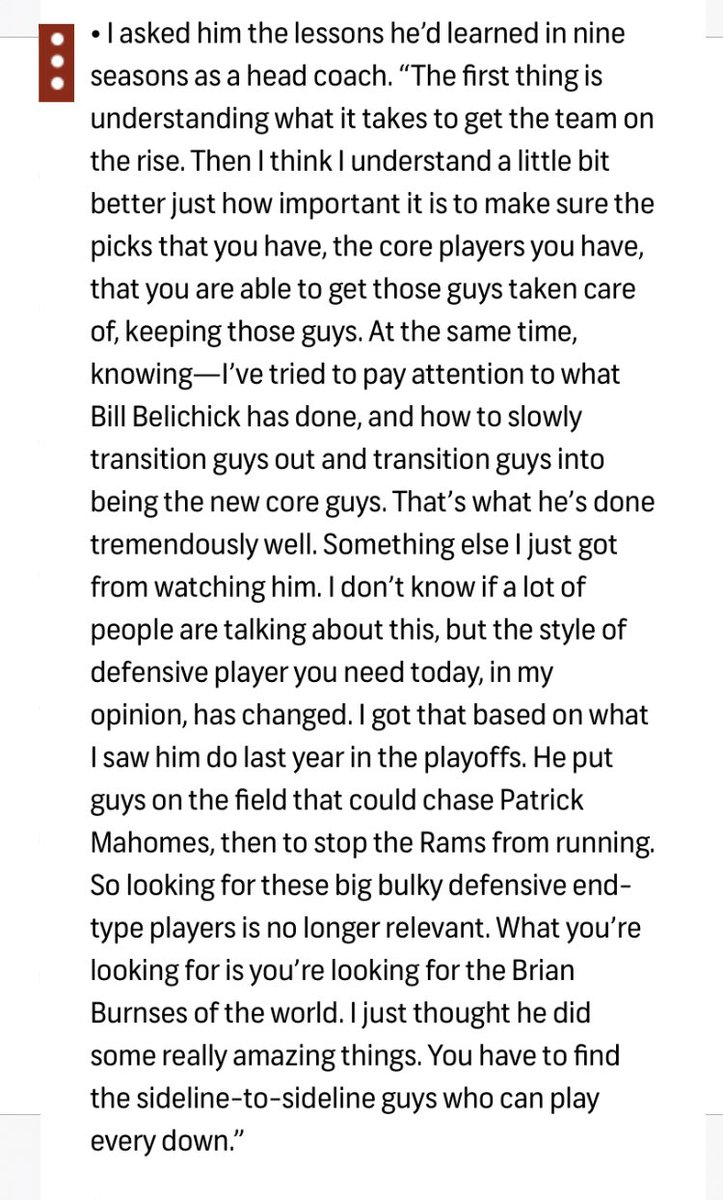 In Peter's weekly column, he speaks with recently-fired Panthers coach Ron Rivera, who shares something he observed from studying Bill Belichick. twitter.com/peter_king/sta…