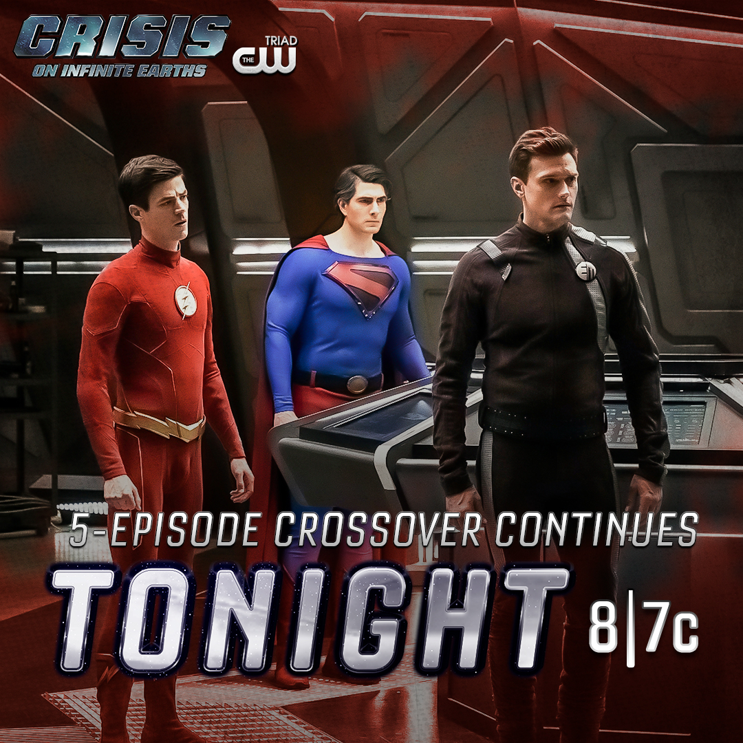 Triad Cw On Twitter Crisisoninfiniteearths Continues Tonight At 8pm On The Triadcw What Did You Think Of The First Crossover Episode Leave Your Comments Below Arrow Supergirl Batowman Legendsoftomorrow Flash Blacklightning Superman