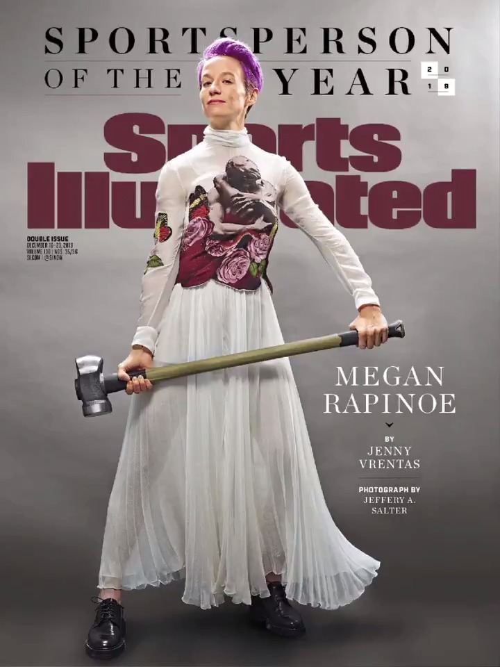 Congratulations to @mPinoe, the 2019 Sports Illustrated #Sportsperson of the Year