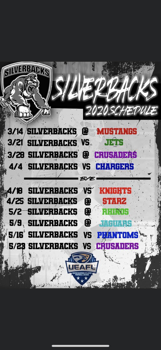 Our 2020 Schedule Has Been Released!! #SemiProFootball #SpringFootball #VASilverbacks<br>http://pic.twitter.com/22WMFtv5v9