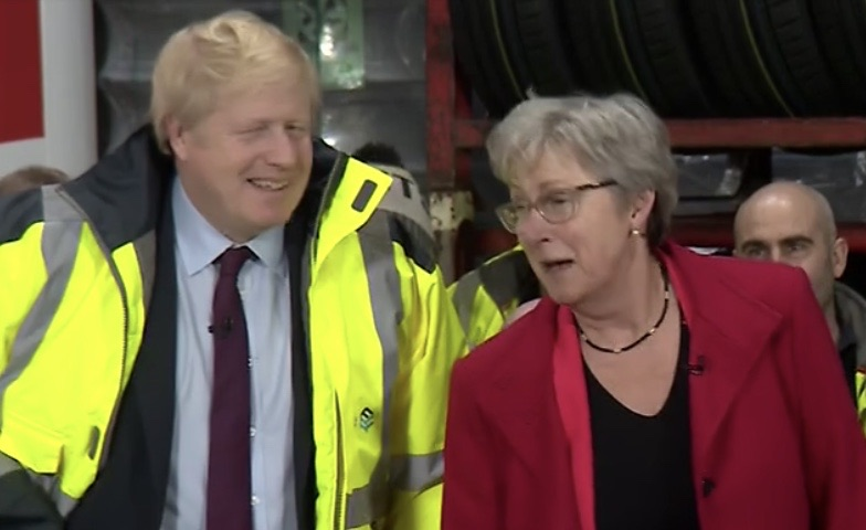 Gisela Stuart back out on the campaign trail with Boris Johnson.