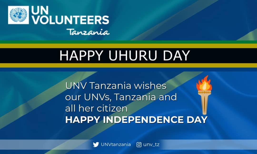 RT @UNVTanzania: Happy Uhuru Day Tanzania 🇹🇿 #IndependenceDay #UhuruDay  #UNVTZ https://t.co/yOcJtz3EUt