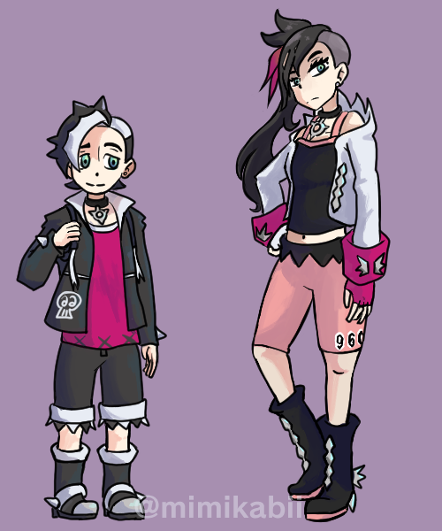 Mock Pokemon Art of AgeSwapped Piers and Marnie  #PokemonSwordShield <br>http://pic.twitter.com/cE6jhAqqZV