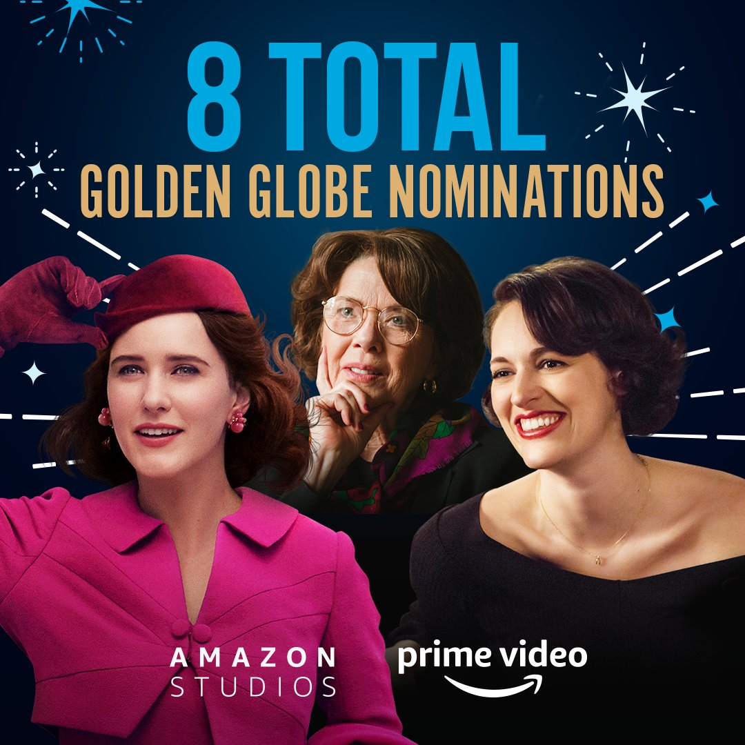 Congrats to all of our #GoldenGlobes nominees, including @rachelbros, PWB, Annette Bening, Emma Thompson, Andrew Scott and the casts/crews of @maiseltv, @fleabag and Les Misérables! 👏