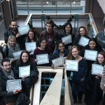 Image for the Tweet beginning: Happy group of trainees with