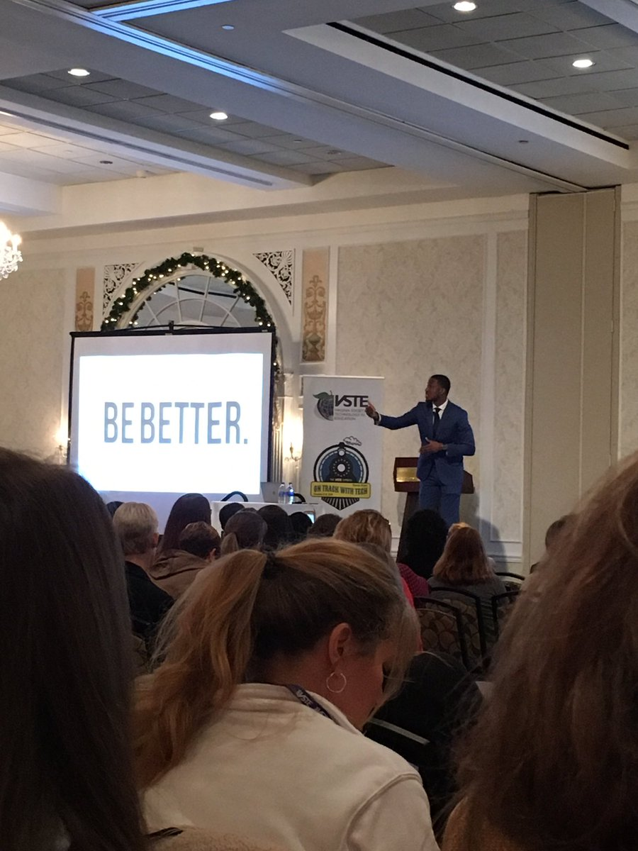 Be Better. It's that simple - and that hard. @MichaelBonner_ #VSTE19
