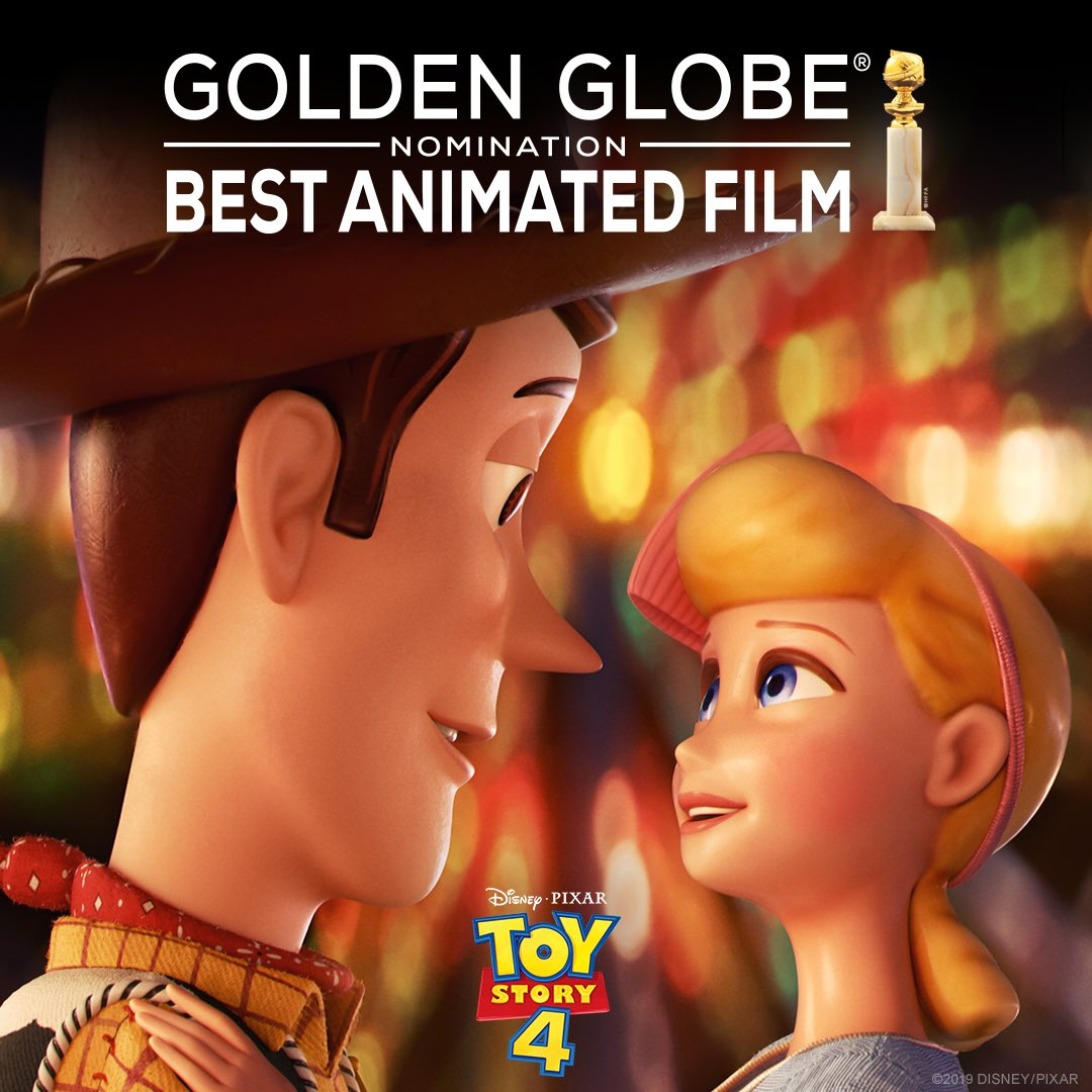 Toy Story 4 has been nominated for Best Animated Feature at the Golden Globe Awards. #GoldenGlobes https://t.co/uxW8bjpvsI
