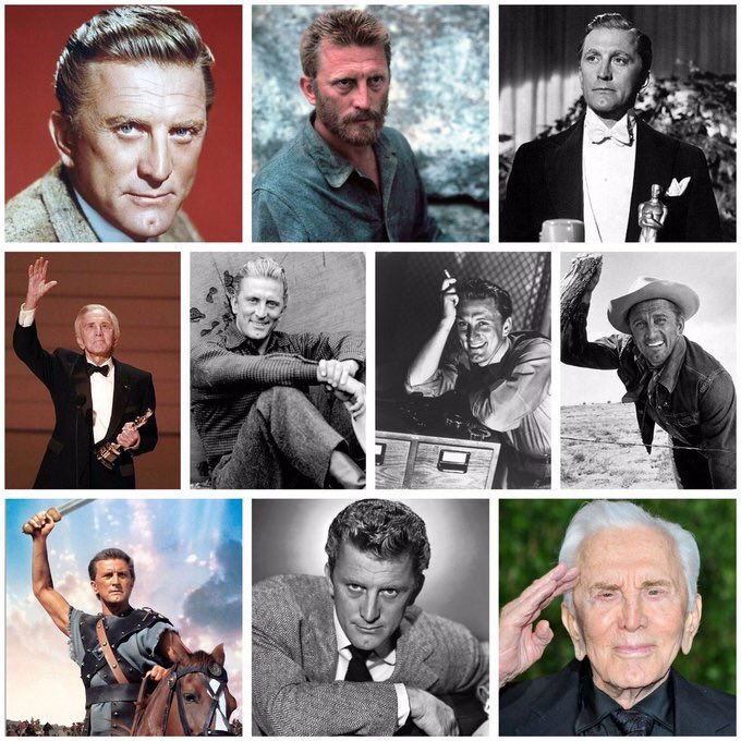 Happy 103rd #Birthday🎂to the king of Hollywood and #Hollywood legend movie star of the postwar era, #KirkDouglas - who's raging creations earned him three #Academy Award nominations and one Golden #Globe.   Born #OTD 1916, Issur Danielovitch, in Amsterdam, New York. U.S.