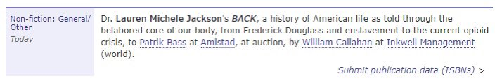 i'm writing another book! it's about the back, literally and metaphorically. should be gnarly. can't wait.