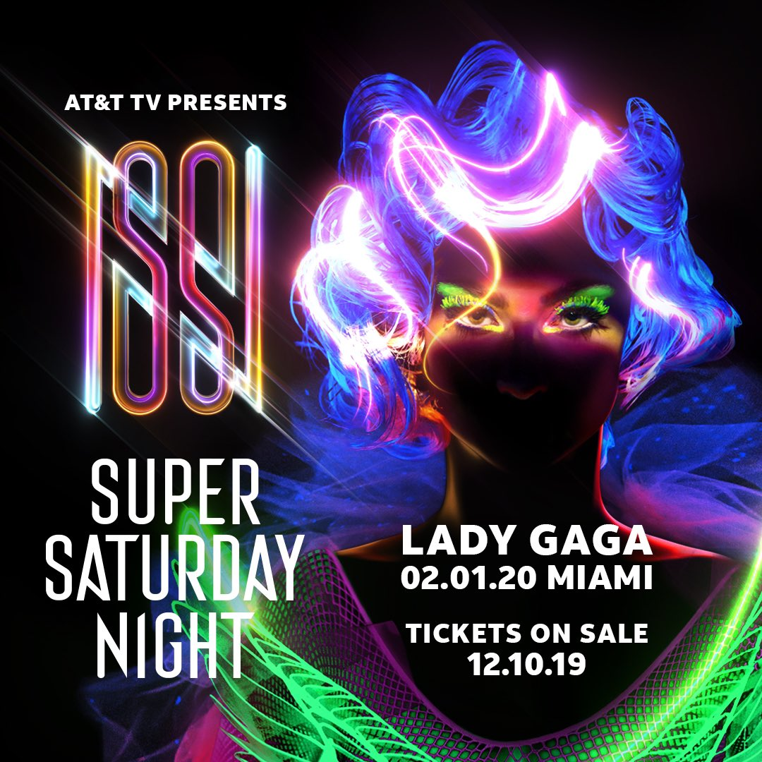 AT&T TV #SuperSaturdayNight  tickets on sale 12/10 😘