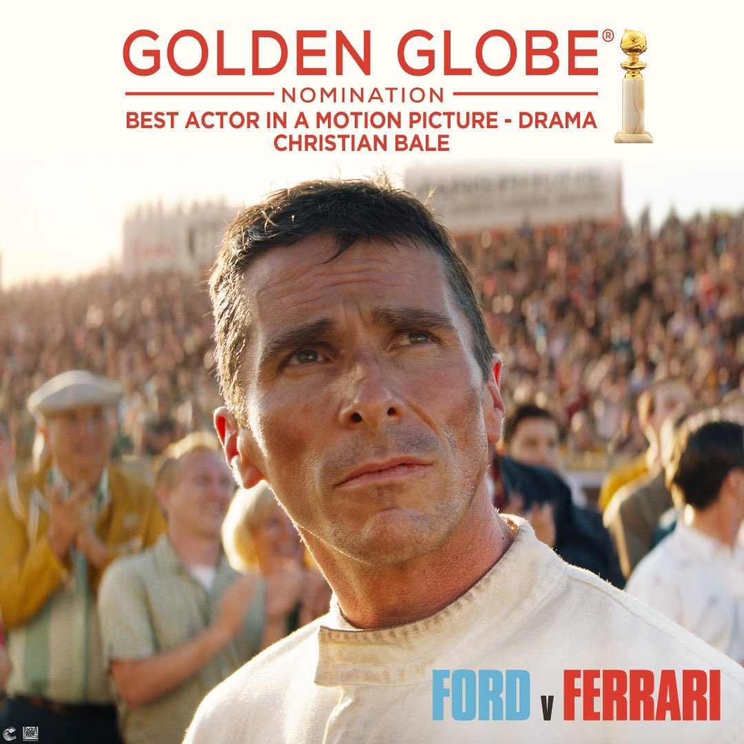 Ford V Ferrari On Twitter Congratulations To Christian Bale For His Goldenglobes Nomination For Best Performance By An Actor In A Motion Picture Drama In Fordvferrari Https T Co 7pexv5nzwz