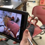 Image for the Tweet beginning: Students using Google Expeditions Augmented