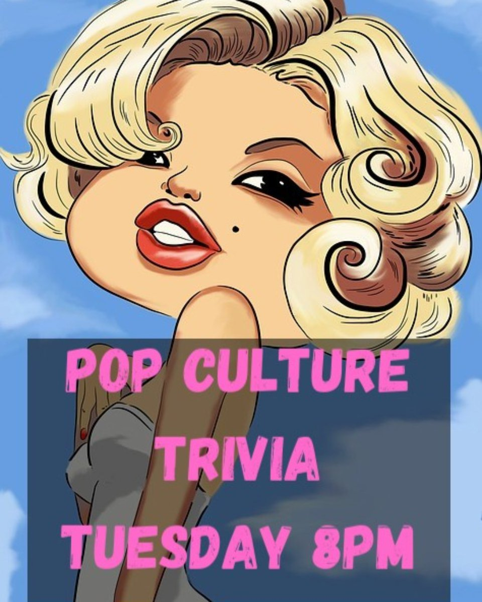 The most creative trivia game in town! Use your knowledge to win prizes and have FUN. #rvatrivia #popculturetrivia #musictrivia #movietrivia #triviaprizes #rvapub #irishpub #rvabar #rvadine #rvaeats #rvamusic #PBR #whiteclawhardseltzerpic.twitter.com/YaWTrK1wJB