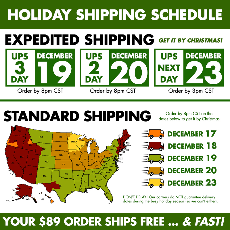 If you want your #denniskirk gifts to arrive by Christmas, make sure to order by 8pm CST on the cut off date based on your location on the standard shipping chart. 🚚  *Our carriers do NOT guarantee delivery dates during the holiday season, so we can't either! https://t.co/gEYGKeMQH1