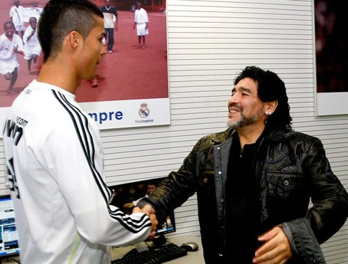 Diego Maradona: Cristiano Ronaldo? Wonderful. One of the things I admire about Cristiano is that when the team needs him, he steps up. Since Cruyff there were not many players like that in football.