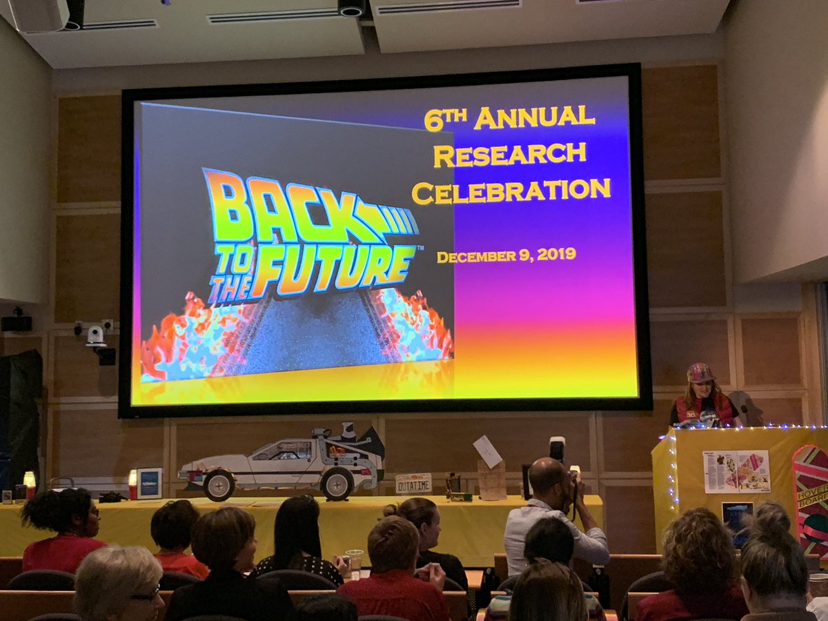 The Annual Research Celebration @HeartInstitute has started - Back to the Future! @UOHIResearch