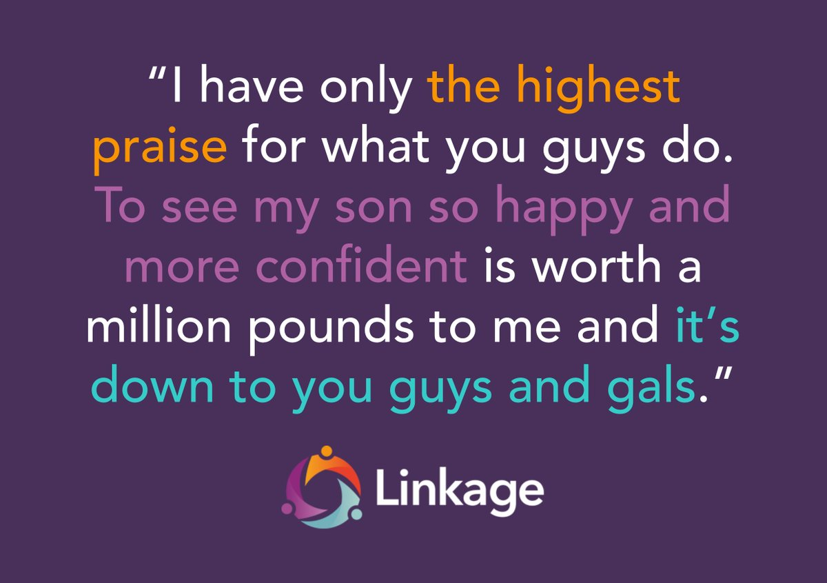 Some great feedback from a parent. It's a privilege to be able to make this sort of difference and we're not going to stop striving to make a bigger difference to more people.  #MondayMotivaton #learningdisabilities #EqualityCantWait <br>http://pic.twitter.com/7e0btNaBmh