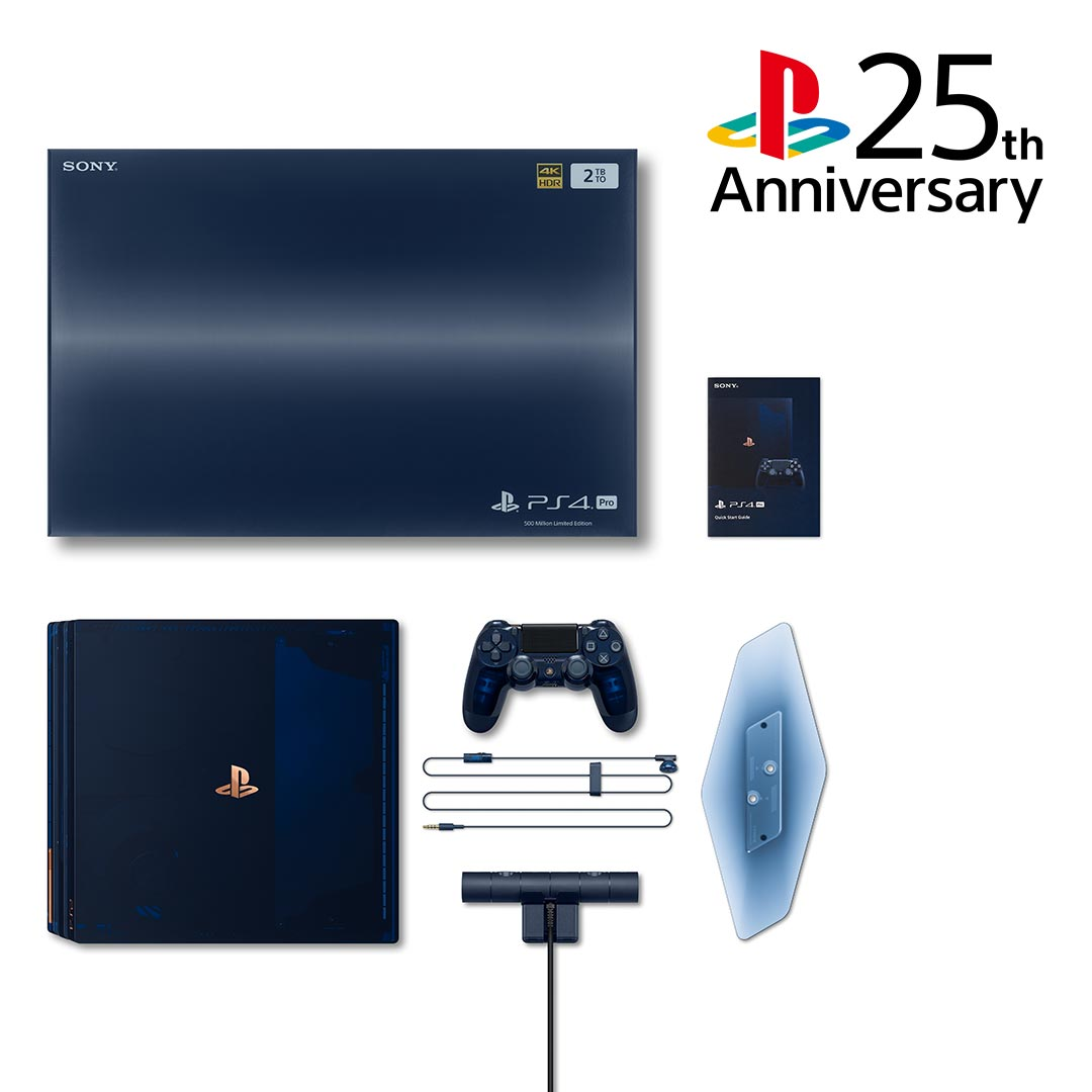 Last year, the 500 Million Limited Edition PS4 Pro celebrated a monumental milestone of total PlayStation units sold. Thank you for helping make it happen #25YearsOfPlay <br>http://pic.twitter.com/Tic4X6odCS