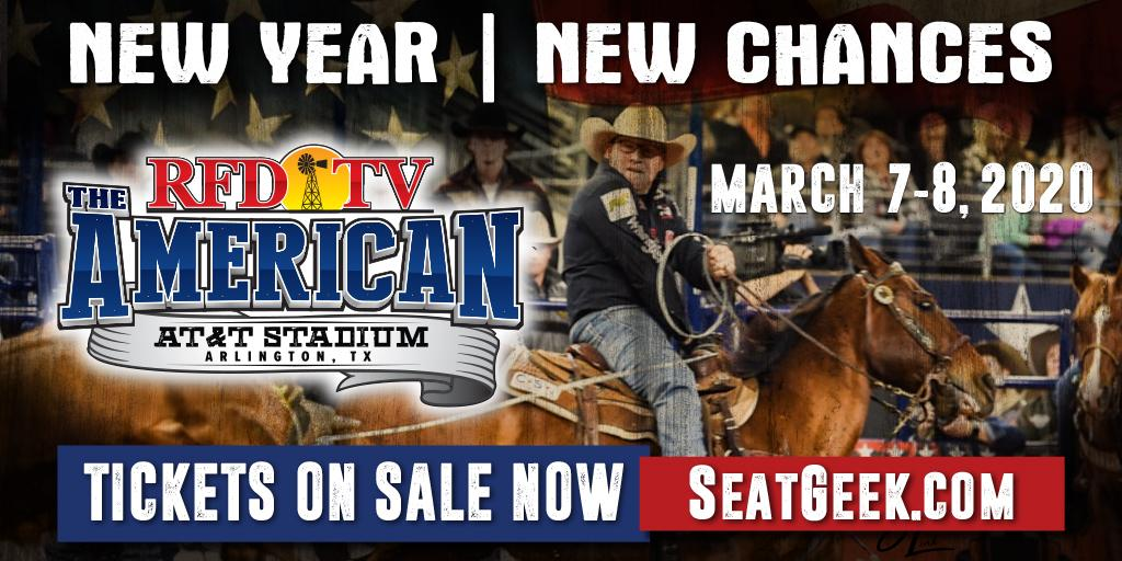 Mark your calendars now to attend the World's Richest Weekend in Western Sports where the industry's most talented athletes rope and ride at The American on March 7–8, 2020. Tickets are on sale now! Get yours today! 🎟 bit.ly/2LAanZR