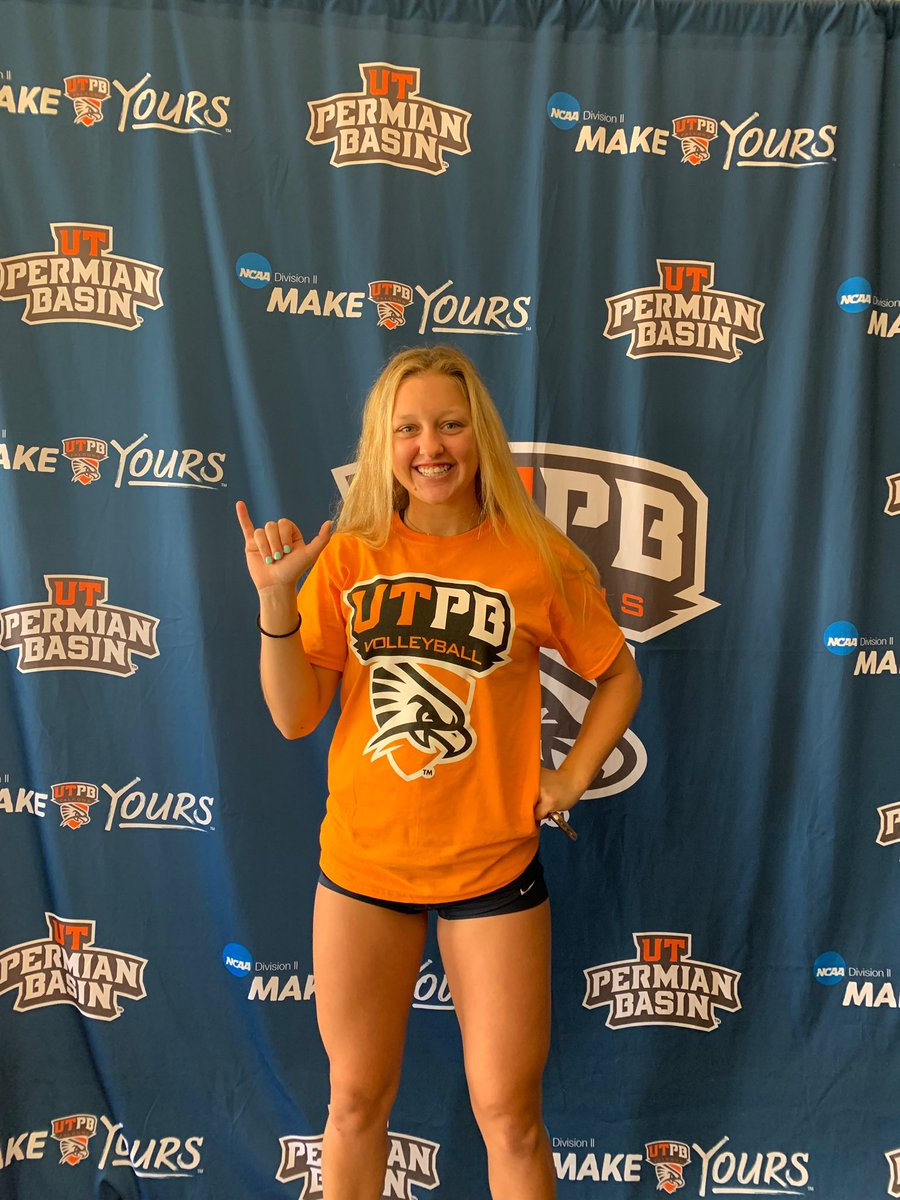 I'm so excited to announce my verbal commitment to further my education and volleyball career at University of Texas Permian Basin!! Big thank you to my family, coaches and friends who have helped me become the teammate and person I am today! Go falcons  #blessed<br>http://pic.twitter.com/A5fBZdxp7p